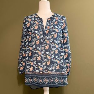 Danielrainn paisley print long sleeves top L